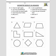 Geometry Worksheets Riddles