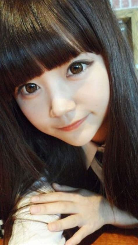 ulzzang large eyes circle lenses black hair