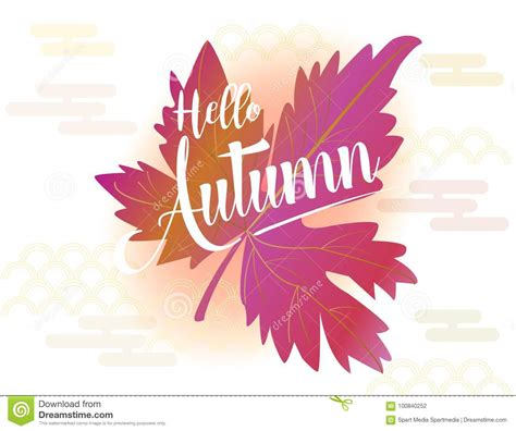 Fall Backgrounds Trendy by Hello Autumn Stock Vector Illustration Of Business
