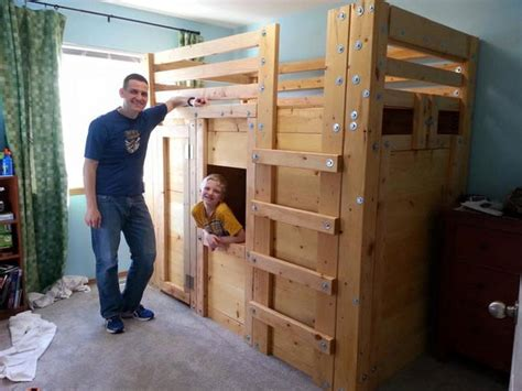 twin cabin bed plans  bed fort