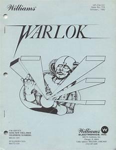 Warlok Pinball Manual For Sale