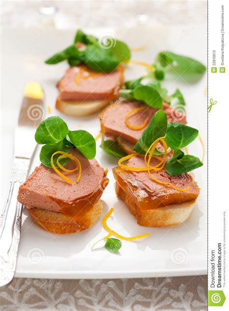 pate canapes canape with pate stock photos image 22816813