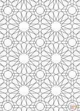 Islamic Coloring Pattern Pages Mosaic Patterns Printable Drawing Roman Colouring Sheets Colour Geometric Designs Numerals Bible Dot Main Alhambra Getcolorings sketch template