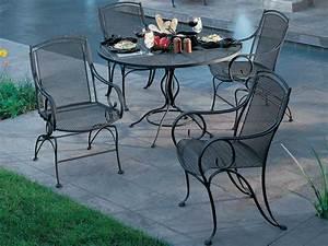 Woodard Modesto Wrought Iron Dining Set