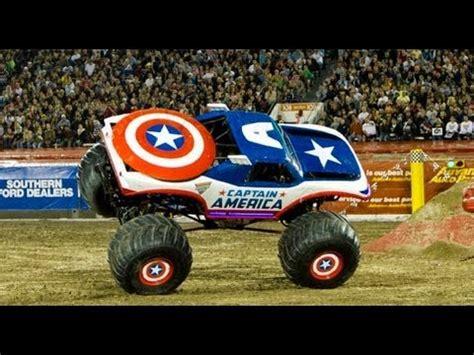 monster jam truck list monster jam captain america freestyle crash monster