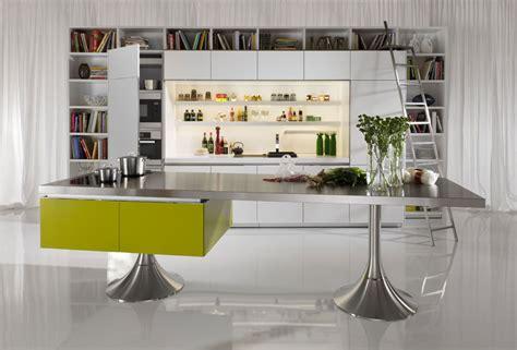 ilot dans cuisine les cuisines haut de gamme font bibliothèques