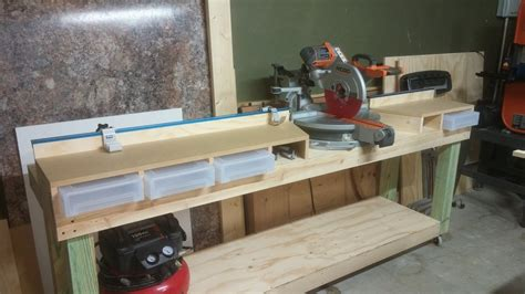 New Mitre Saw Table With Kreg Fence Rails