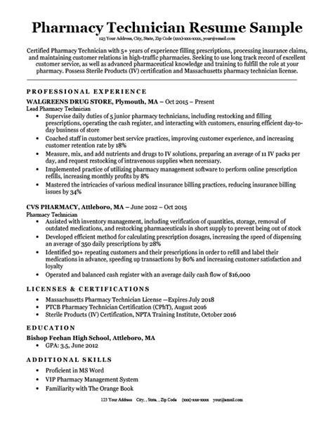 Pharmacy Technician Resume Samples   IPASPHOTO