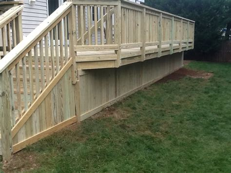 Loudoun Deck And Fence by 5 4 Board Skirt Nicely Trimmed Yelp
