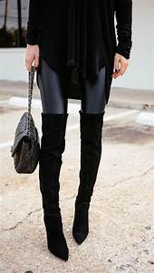 Over the knee boots and leather leggings | Style Crushes ...