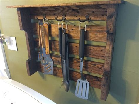grill utensil holder stained  ages oak diy