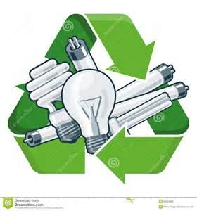 Cfl Light Bulbs by Recycle Light Bulbs Stock Vector Image 54264636