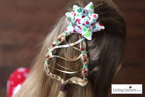 christmas tree braid cute girls hairstyle
