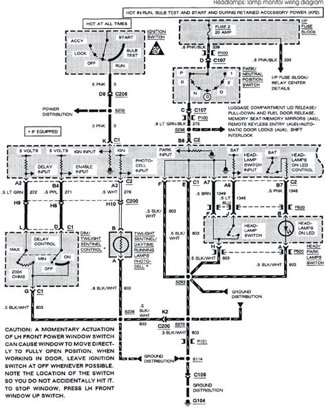 2001 Buick Park Avenue Wiring Diagram by 1993 Buick Park Avenue System Wiring Diagrams Headls