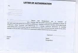 National Federation Of Postal Employees LETTER OF Authorization Letter Sample Best Resume Best Resume Sample Of Authorization Letter For Claiming Cheque Sample Letter To The Bank For Change Of Authorised