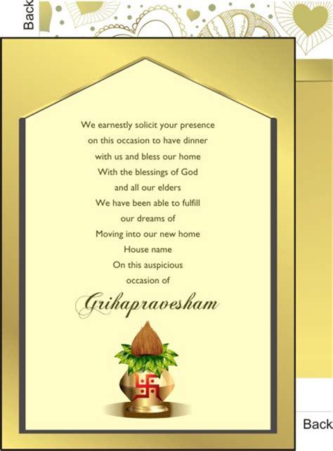 invitation card  griha pravesh  hindi  images