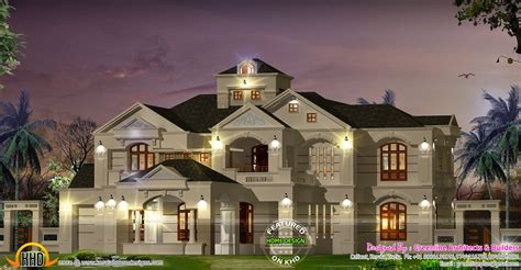 bedroom colonial style luxury villa kerala home design floor plans