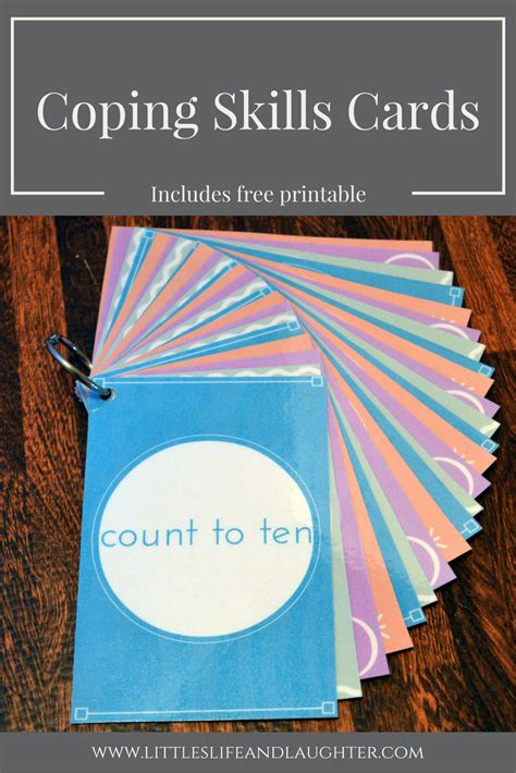 coping skills cards littles life laughter