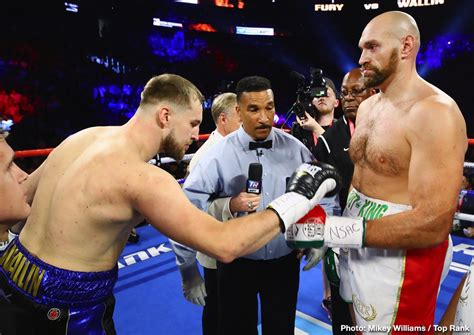 Tyson Fury helps out cut-man that saved him against Otto ...