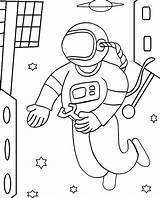 Astronaut Coloring Pages Space Printable Sheets Print Cool2bkids Cosmonaut Astronauts Adults Children Repairs Makes Spaceman Moon Cartoon Drawings Preschool Getcoloringpages sketch template