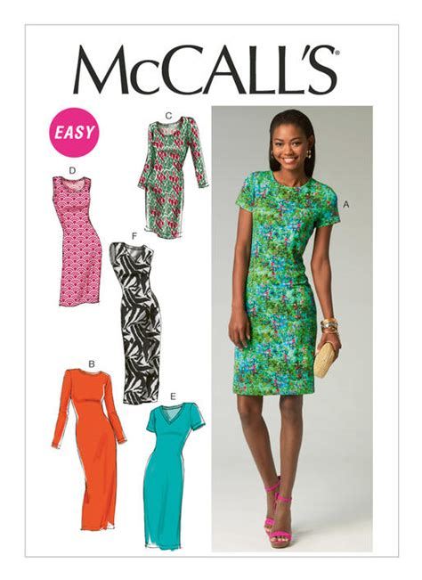 m6886 misses knit pullover dresses sewing pattern