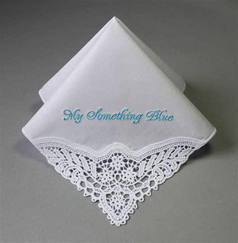 something blue bridal monogrammed handkerchief something blue personalized wedding handkerchief mfp