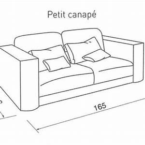 quelle taille pour mon canape cote maison With canapé lit dimension