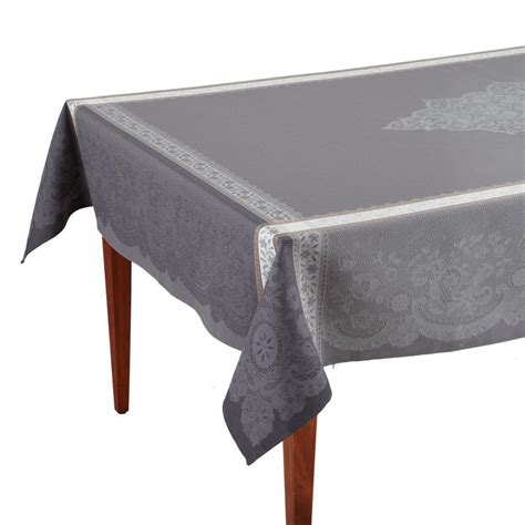 french jacquard table runner dentelle gris french jacquard tablecloth occitan imports