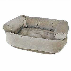 bowsers microvelvet double donut dog bed sofa in thyme With bowsers double donut dog bed