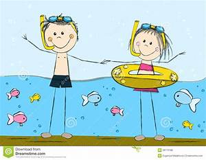 The Sea clipart swimming - Pencil and in color the sea ...