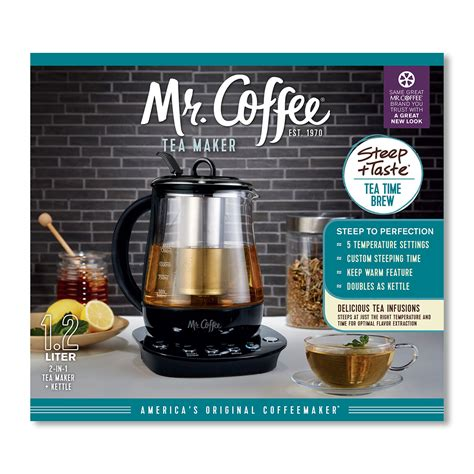 When i wake up, often around the time party animals on the west coast are just heading home, i start each day not with a cup of freshly brewed hot java, but with a tall, blessed glass of creamy iced coffee in a glass. Mr. Coffee® Hot Tea Maker and Kettle - Black