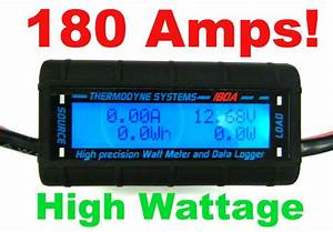 180 Amps Real High Power Watt Meter Big Wire Heavy 8 Awg