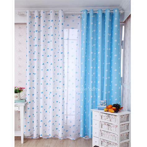 blue and white best quality bedroom and nursery curtains