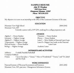 Example College Resumes 9 Academic Resume Templates To Download Sample Templates