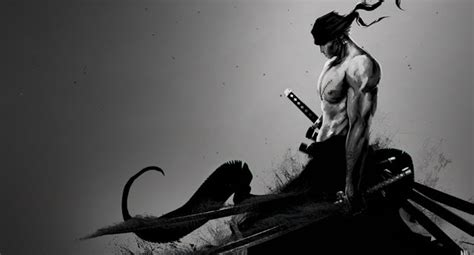 piece zoro black  white wallpaper engine