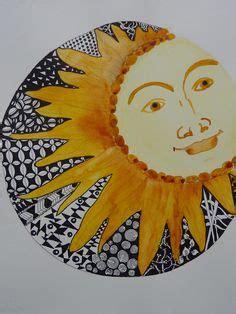 zentangle inspired art Sun and Moon by kirsty jayne goddard