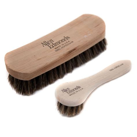 leather shoe brush woodlore cedar products