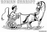 Carriage Coloring Pages Chariot Roman Colorings Print sketch template