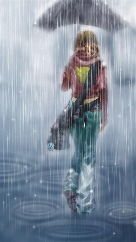 anime girl rain iphone wallpaper 2018 download animated rain wallpaper iphone full size
