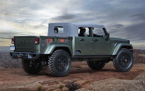 jeep wrangler confirmed  spawn crew cab pickup truck autoevolution