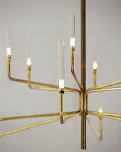 Gallotti Radice : brass chandelier with dimmer epsilon by gallotti radice design massimo castagna ~ Orissabook.com Haus und Dekorationen