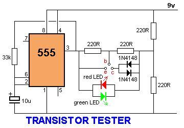 transistor tester circuit using ne555 electricalcorecircuits