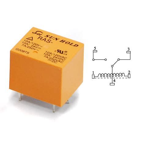 relevador 24 v 10 a 1 polo 2 tiros 10 a ras 2410 rele ras 2410 bobina interruptor controlado por