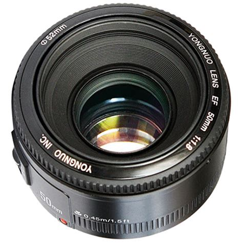 lensa yongnuo 50mm f 1 8 for canon yongnuo yn 50mm f 1 8 lens for canon ef yn50mm 1 8 c b h photo