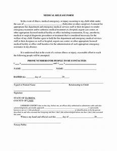 4 Best of Printable Babysitter Medical Release Form