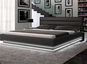 Lit Bed Up : incredible platform bed lit with light emitting diodes ~ Preciouscoupons.com Idées de Décoration