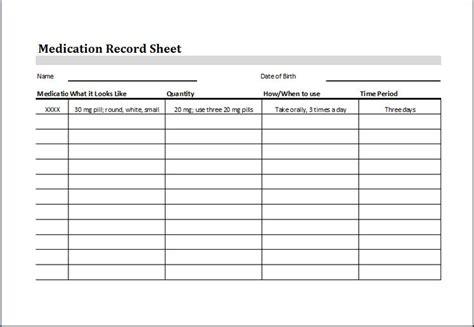 medication record sheet   httpwww