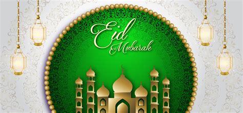 eid mubarak green royal luxury banner background