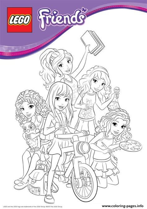 lego friends bike coloring pages printable