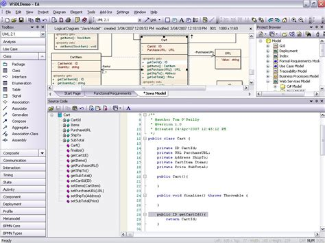 model java uml diagrams  code engineering  generation sparx systems